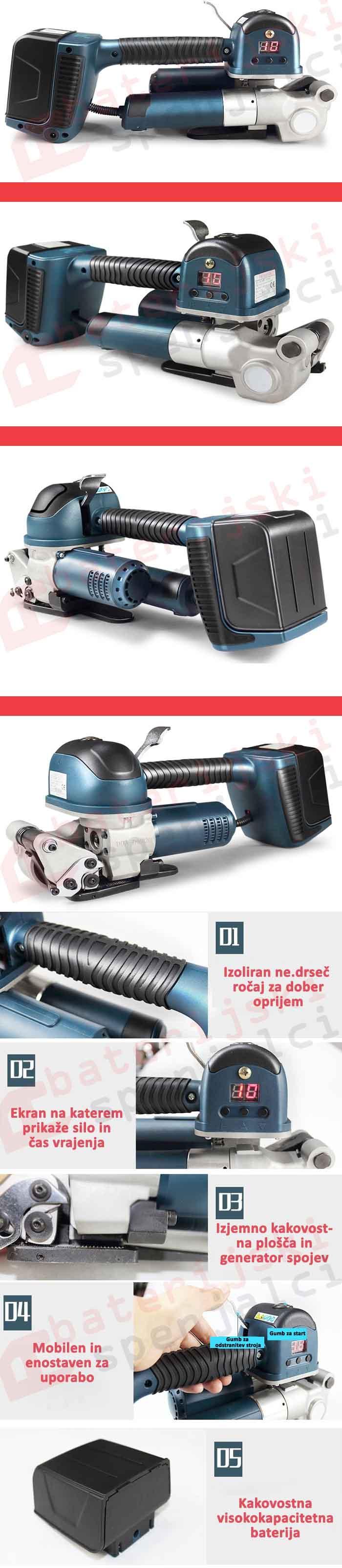 baterijskispenjalci.si Baterijski spenjalec TES Plus za PET trak 16-19mm pregled kvaliteten